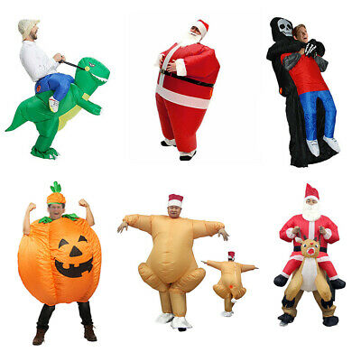 £19.99 • Buy Adult Inflatable Funny Blow Up Fancy Dress Carry On Ride Costume Suits Christmas