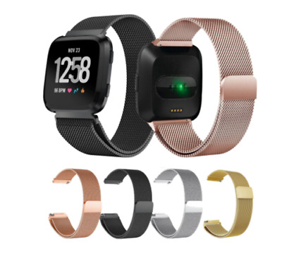 $ CDN10.57 • Buy For Fitbit Versa Lite Replacement Metal Milanese Band Strap