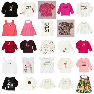 $11.95 • Buy NWT Gymboree Baby Toddler Girl Tee Top Options Lines A-K