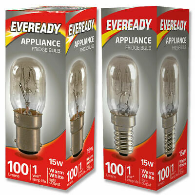 Eveready 15w Fridge / Appliance / Sewing Machine Pygmy Bulb SES E14 SBC B15 240v • 2.59£