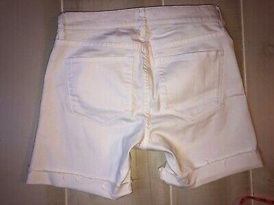 $9.99 • Buy Women's   Nydj Not Your Daughters Jeans Denim Jean Shorts White Cut Off Size 0