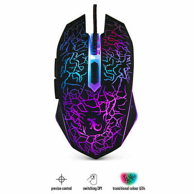 AU27.99 • Buy Gecko Optical LED Lights Gaming Mouse 6D Elite A2- AU Free Shipping