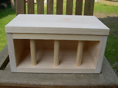 £22.15 • Buy Hay Rack For Hutch Or Cage, Solid Pine C/w Lid, Chinchillas, Rabbits, Guinea Pig