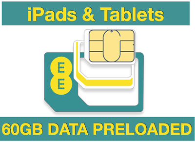 £15.19 • Buy EE 4GEE DATA SIM, Preloaded With 50GB DATA PRELOADED Included For 30 Day