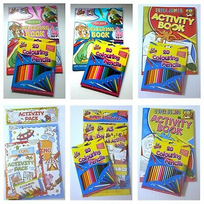 £4.99 • Buy Colouring Activity Book Pencils Childrens Various Colouring Sets