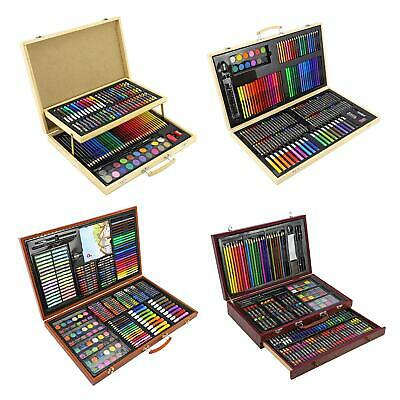 £29.95 • Buy Artists Wooden Art Case Box Colouring Oil Pencils Painting Sets Childrens/Adults