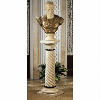 Roman Emperor Julius Caesar 27.5  Bust On Bottochino Spiraled Marble Column • 1,020.81£