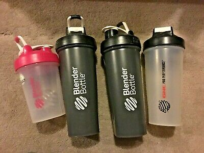 $40 • Buy Blender Bottles GNC Nutrition Workout Gym Pink Black Clear Shakes Wire Whisks
