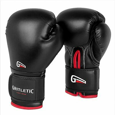 $29.99 • Buy Gritletic PowerGrip Boxing Bag Training Gloves For Men/ Women-Synthetic Leather