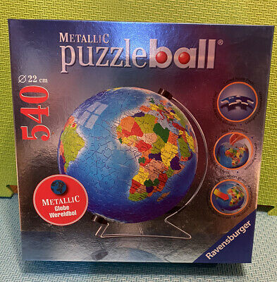 $40 • Buy Ravensburger Metallic Earth Puzzle Ball Globe 540 Pc Pieces With Stand Jigsaw