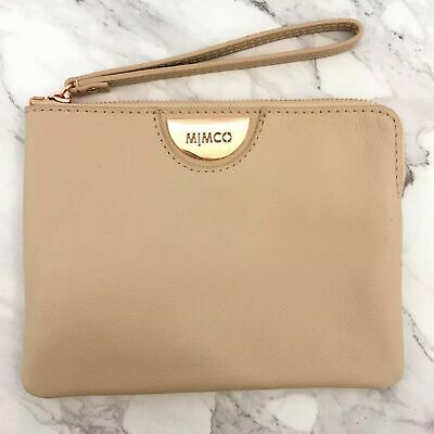 AU47.99 • Buy Mimco Echo Pancake Rose Gold Patent Medium Pouch Wallet • Brand New