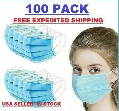 $42.68 • Buy 100 PCS Face Mask Surgical Dental Disposable 3-Ply Ear-loop Mouth Cover NEW