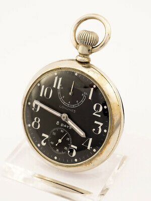 AU3115.06 • Buy Longines Pocket Watch  With 8 Days Movement And Power Reserve Military