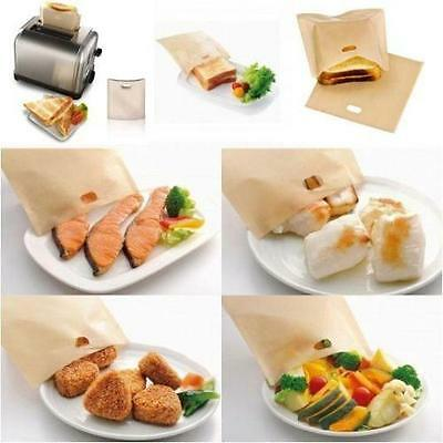 Reusable Toast Toaster Bags No Non Stick Oven Grill Panini Pizza Sandwich Bag N7 • 1.89£