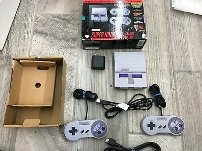 $ CDN251 • Buy Authentic SNES Super Nintendo Classic Mini 21 Game Complete System 2 Controllers