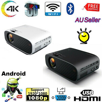 AU129.26 • Buy 4K 1080P HD Projector Android WiFi LED LCD Mini Video Theatre Home Cinema  HDMI