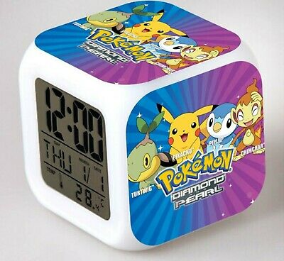 AU28 • Buy Boy Children Pokemon Pikachu Digital Led Alarm Clock Night Light Christmas Gift