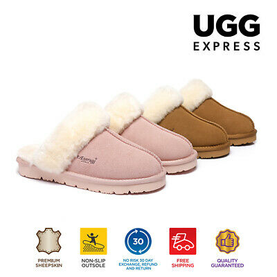 AU38 • Buy Ever UGG Slippers,Australia Premium Sheepskin,Unisex Muffin Scuff