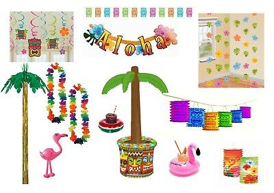Hawaiian Party Birthday Summer Tropical Luau Tiki Palm Tree Decorations Props • 4.49£