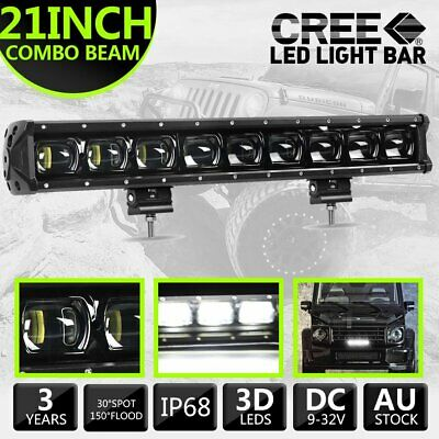 AU85.49 • Buy 1x 9D 21inch CREE LED Light Bar Spot Beam Work Driving Light OffRoad ATV UTE 4WD