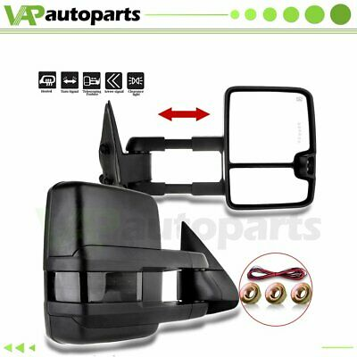 $147.48 • Buy Pair For 99-02 Silverado Sierra Power LED Signal Tow Side View Mirrors