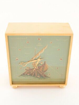 £6949.52 • Buy Omega Table Clock With 8 Days Movement FISHER Hand Painted By Jean-Pierre Mathey