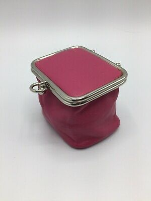 $ CDN28 • Buy Danier Leather Coin Purse Pink Genuine Leather Clasp Closure