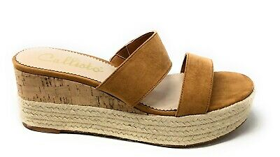 $35.50 • Buy Callisto Of California Womens Slide Woven Wedge Slide Sandals Brown Size 9 M