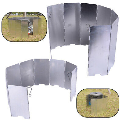 AU11.95 • Buy Outdoor Camping BBQ Foldable Burner Windshield Gas Stove Wind Shield Screen
