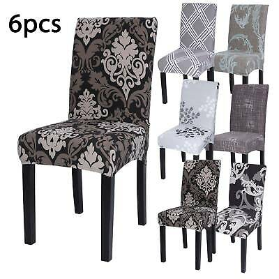 UK 6X Stretch Dining Chair Covers Removable Slipcovers Wedding Banquet Decor • 10.69£