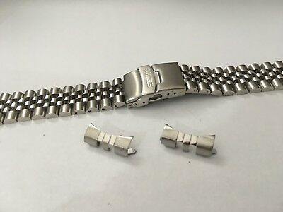 Seiko 22mm Divers Jubilee Stainless Steel Watch Strap / Band Curved End,( Bd-5 ) • 19.99£