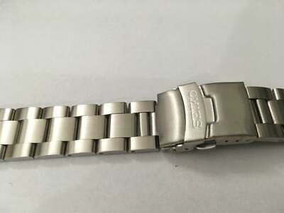 Seiko 20mm Divers Oyster Stainless Steel Watch Strap / Band Curved End,( Bd-2 ) • 19.99£