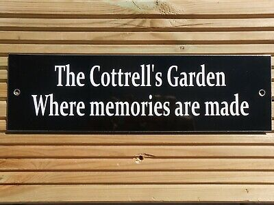 £9.95 • Buy Garden Sign Welcome Bbq Party Pub Mom Dad Nan Grandad Sign Personalised & New!