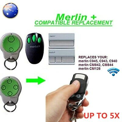 AU16.49 • Buy Garage/Gate Door Remote For MR600 MR650 MT60 Merlin+ C945 CM842 C940 C943 MGS300