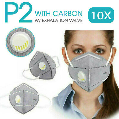 AU20.99 • Buy 10x P2/KN95 PM2.5 Anti Pollution Dust Respirator Mask Exhalation Valve Half Face
