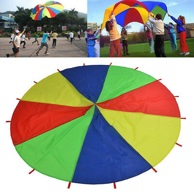 £18.79 • Buy 2m/3m Kids Play Parachute Children Rainbow Outdoor Game Exercise Sport Toy UK
