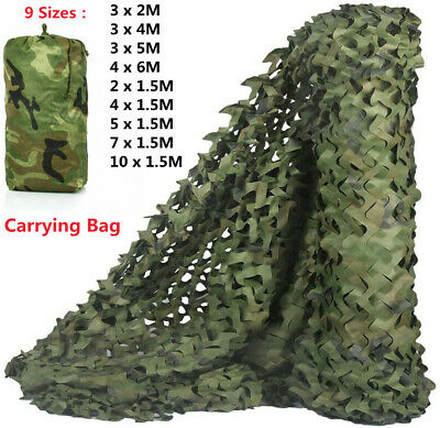 7 Size Camouflage Net Hunting Shooting Army Hide Military Camo Netting&Carry Bag • 10.99£