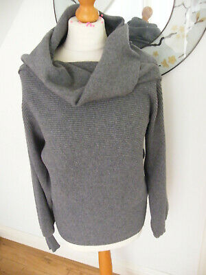 Zara Grey Jumper Size Large Uk 12-14 Apx Slouchy Neck Knitted Style Vgc • 9.99£