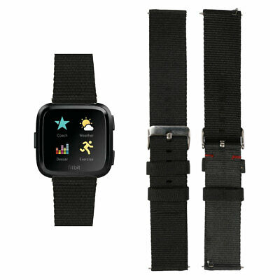 $ CDN6.86 • Buy For Fitbit Versa Watch Wrist Strap Band Replacement Woven Fabric Metal Buckle UK
