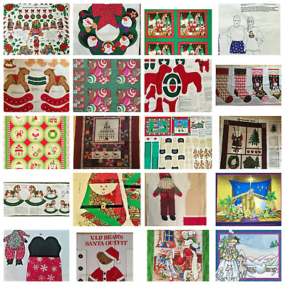 £5 • Buy CHRISTMAS Panels : 100% Cotton Fabric In Assorted Designs