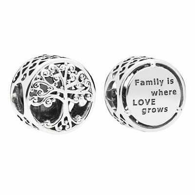 AU25.99 • Buy SOLID Sterling Silver Round FAMILY TREE ROOTS HERITAGE  Charm By Pandora's Wish