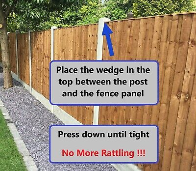Fence Panel Wedges (10 Pack) Stop Fence Panels Rattling In Wind Fence Wedges • 6.95£