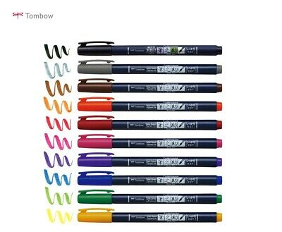 Tombow Fudenosuke Color Brush Felt Tip Pen Choose From 10 Colors WS-BH • 4.16£