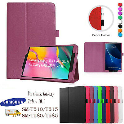 Leather Tablet Stand Flip Cover Case FOR Samsung Galaxy Tab S6 A7 2020 T510 T580 • 5.34£