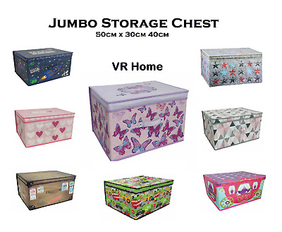 New Jumbo Multi Use Storage Chest Box, Kids Room Toy Box, Foldable +  FREE P&P • 12.95£