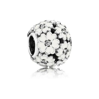 AU23.99 • Buy SOLID Sterling Silver Floral WHITE Primrose Flower Charm By Pandora's Wish
