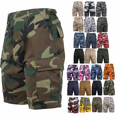 $27.99 • Buy Army Cargo BDU Combat Shorts Button Fly Camouflage & Solid Military Rothco