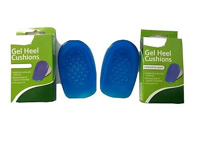 Heel Support Pads Orthotic Cushion Gel Cup Insoles For Plantar Fasciitis Pain UK • 4.99£