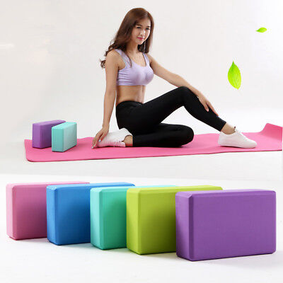 2 X Yoga Block Pilates EVA Foaming Foam Brick Exercise Gym Fitness Up Stretching • 5.99£