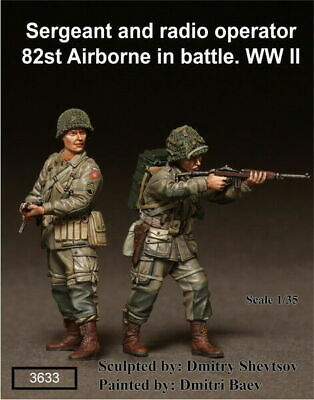 1/35 Scale Resin Figure Kit WW2 Sergeant Radio Operator 82st Airborne In Battle. • 26.99£